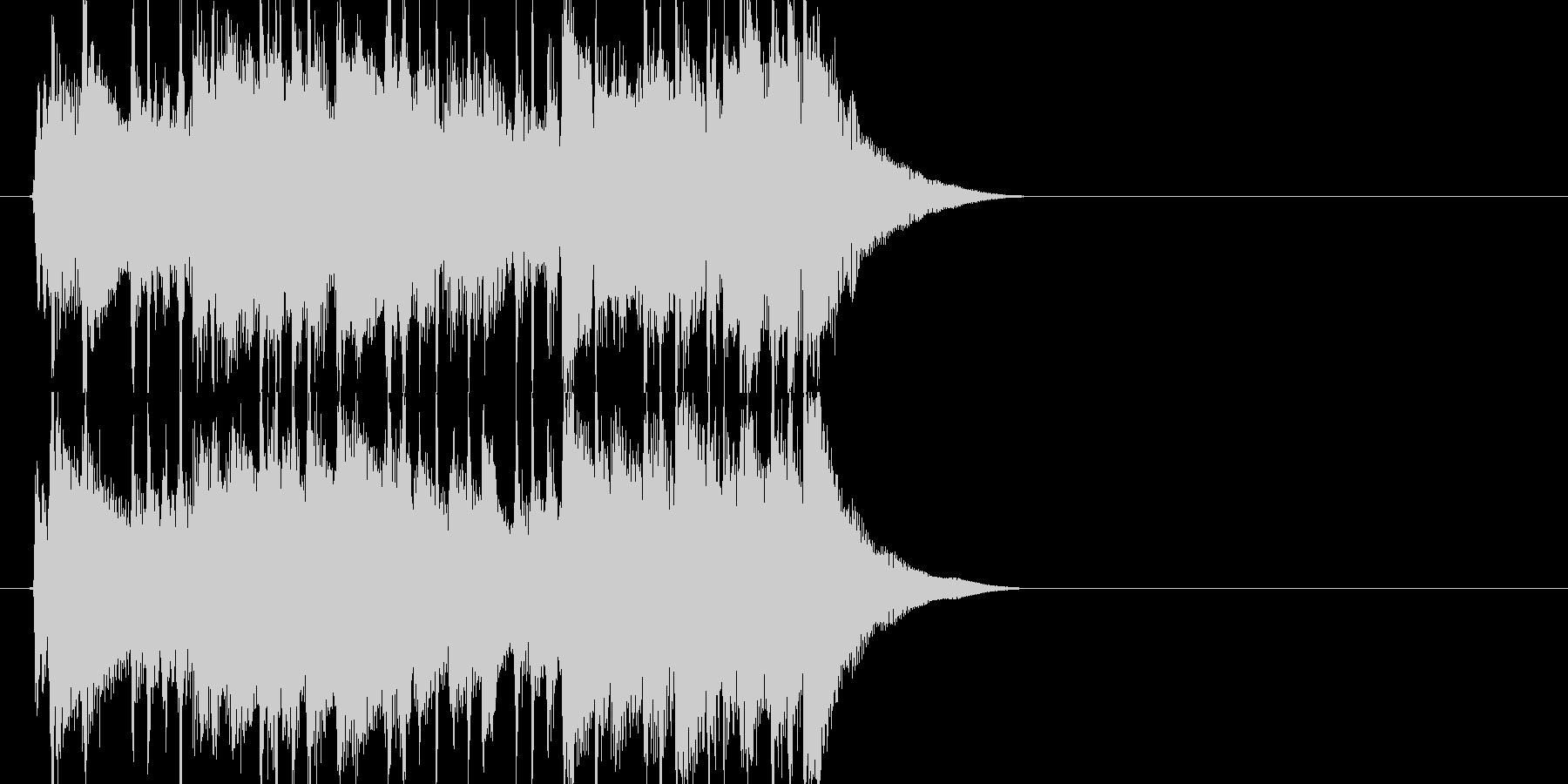 ポップジングルの未再生の波形