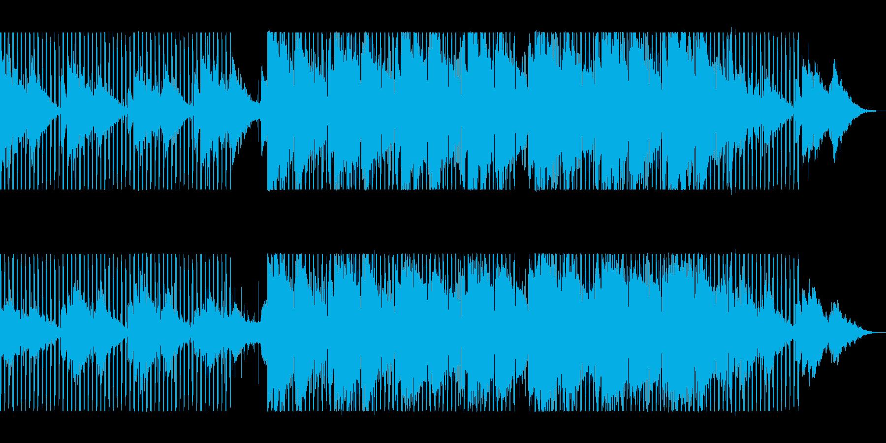 緩やかで穏やかなシンセピアノテクノポップの再生済みの波形