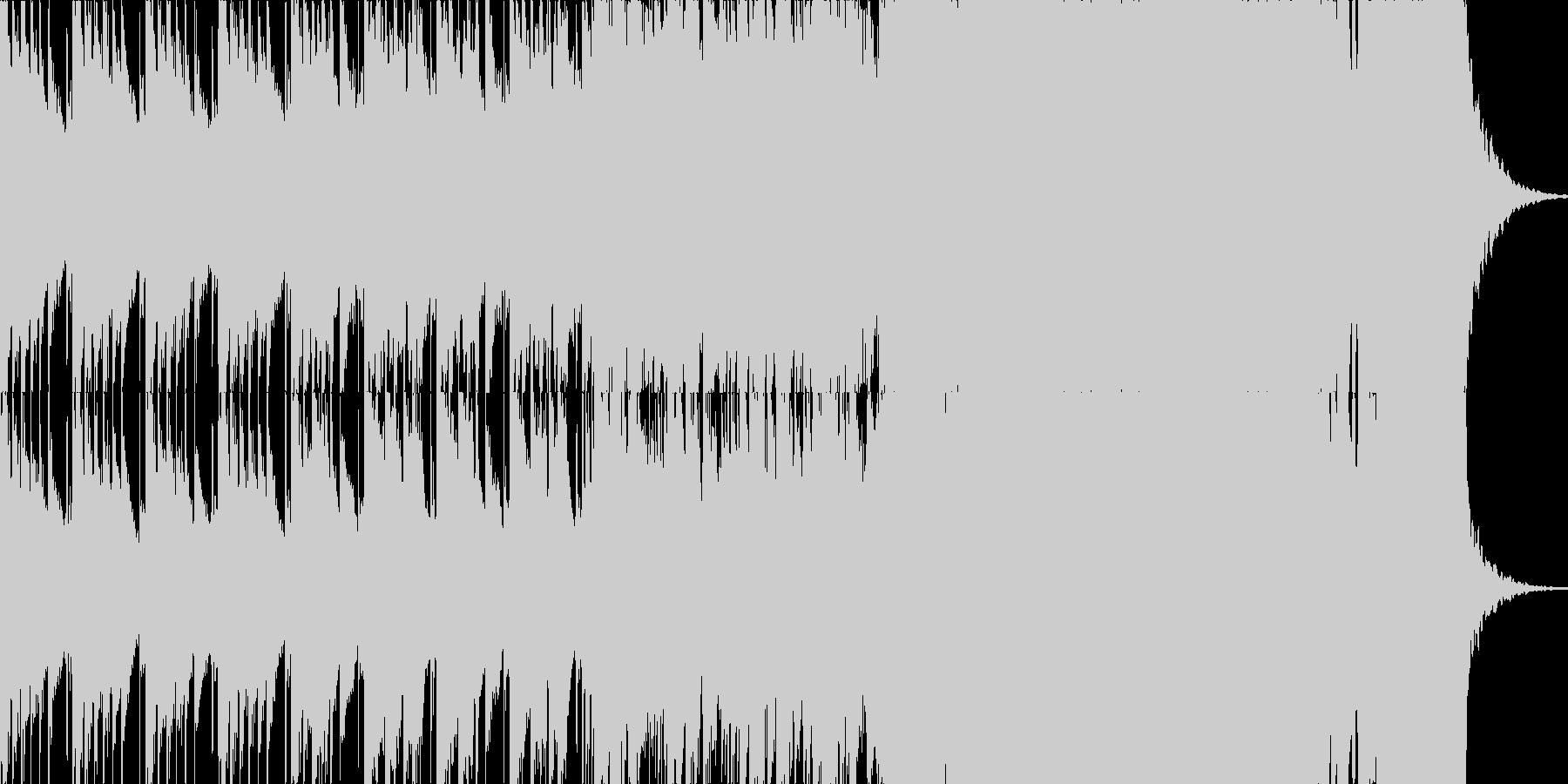 わくわくする様なウインターソングの未再生の波形