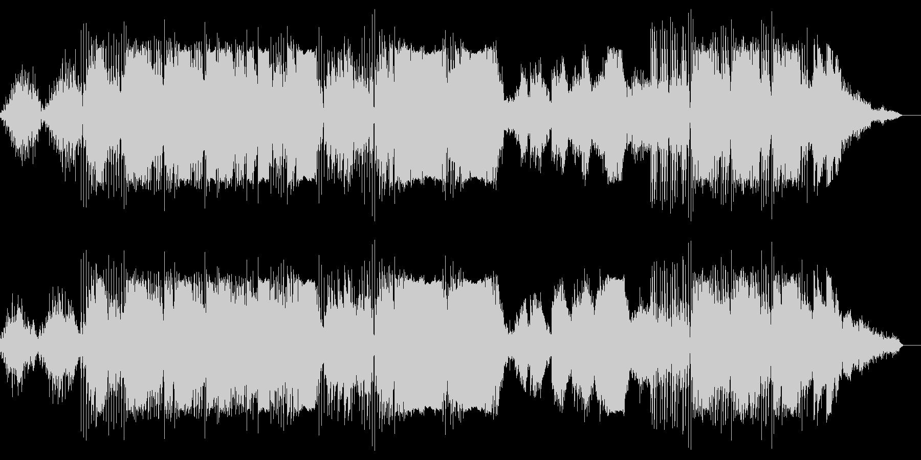 ピアノとエレクトリックの怪しい音世界の未再生の波形