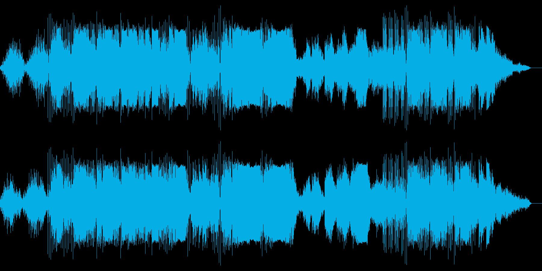 ピアノとエレクトリックの怪しい音世界の再生済みの波形