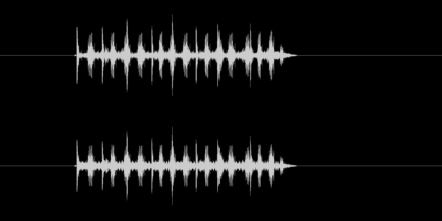 ロボットの歩行音のような効果音の未再生の波形