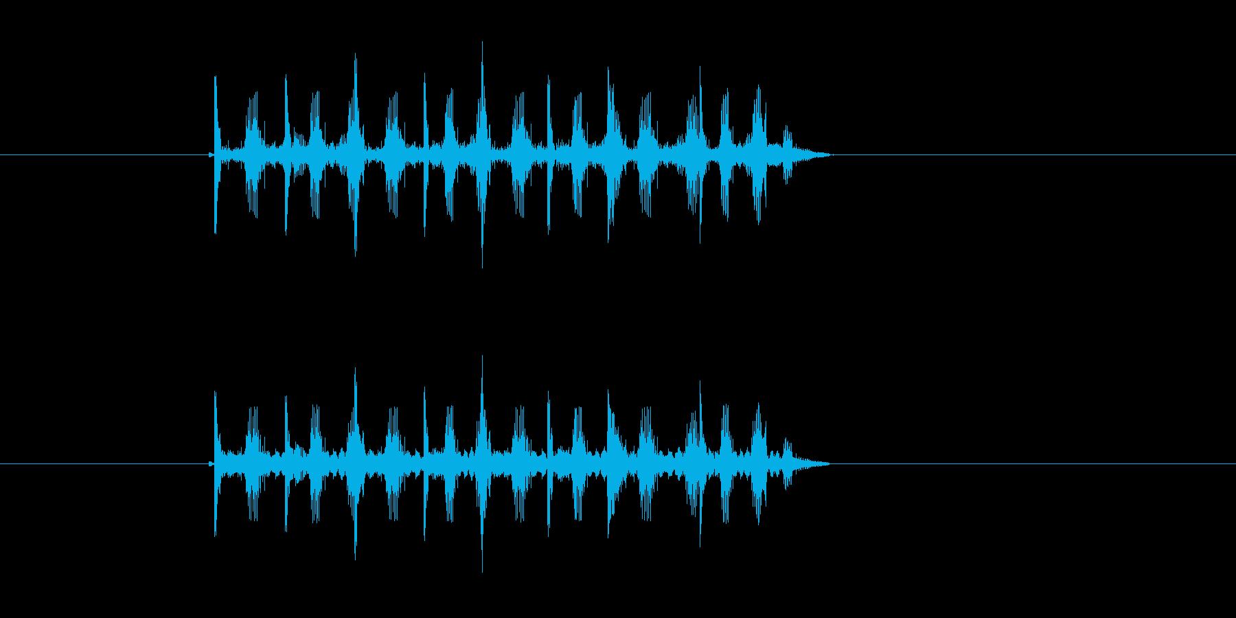 ロボットの歩行音のような効果音の再生済みの波形