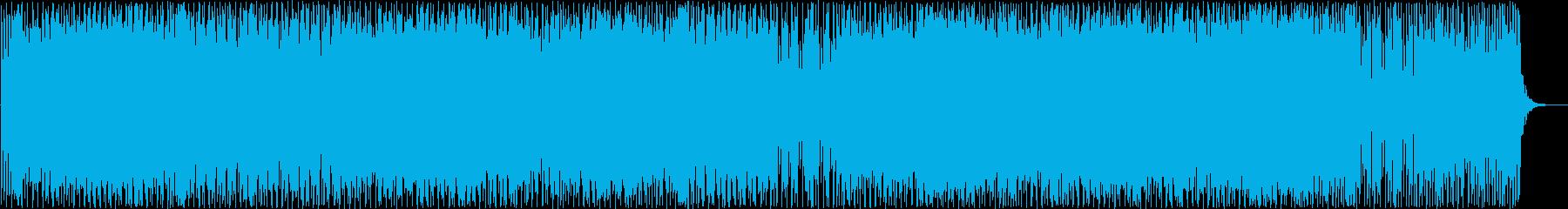 おしゃれなギター・ドラムサウンドの再生済みの波形