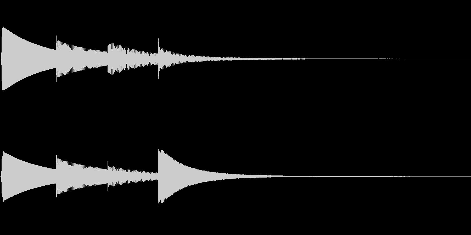 ピンポンパンポン(上昇)お知らせチャイムの未再生の波形