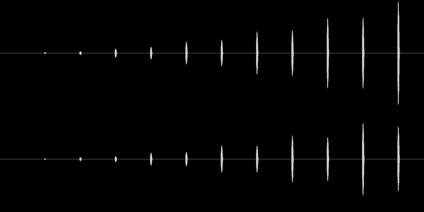 かわいい足音、近づく(ピコピコ)の未再生の波形