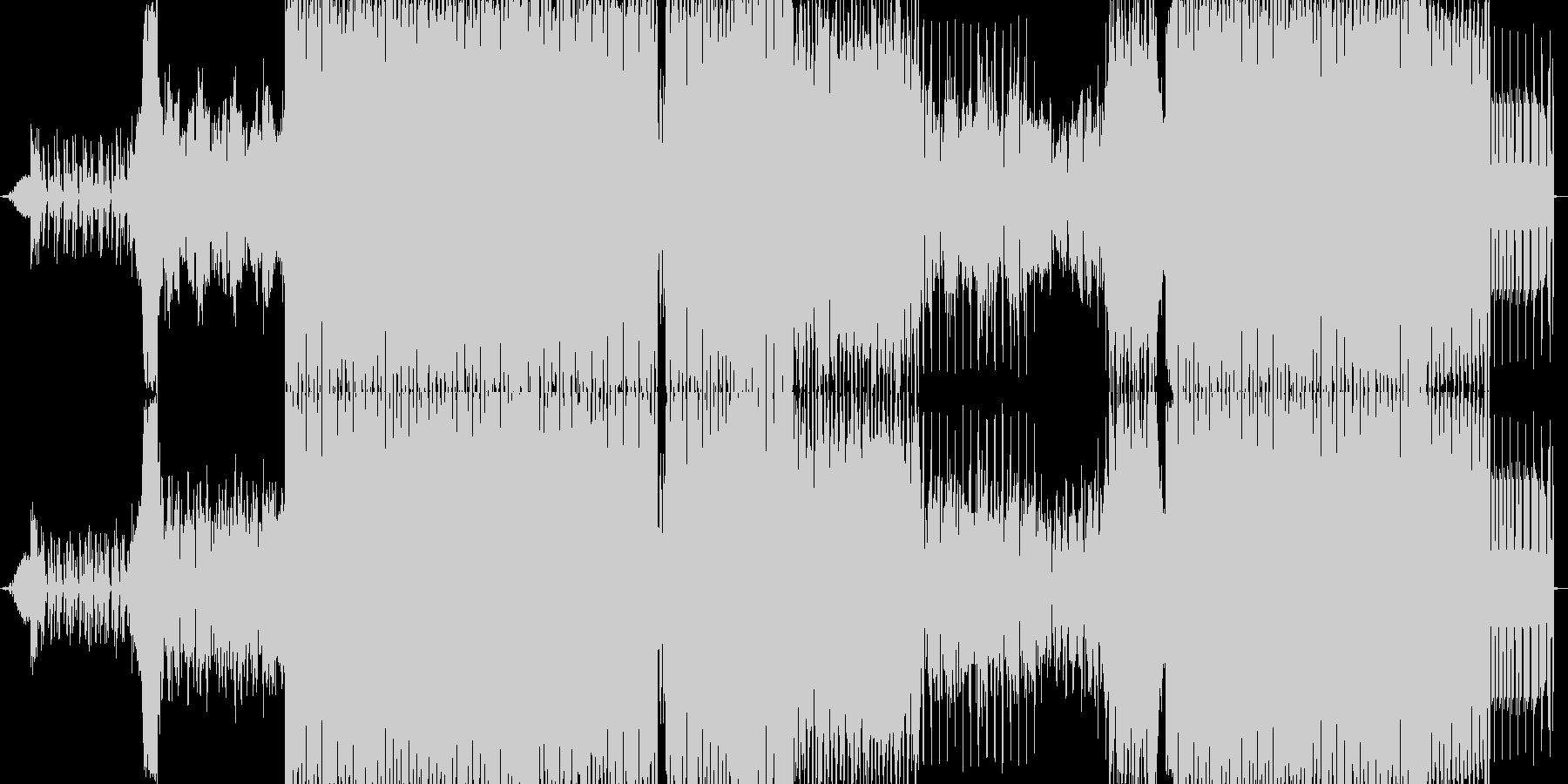 現代的な疾走感のあるEDMの未再生の波形