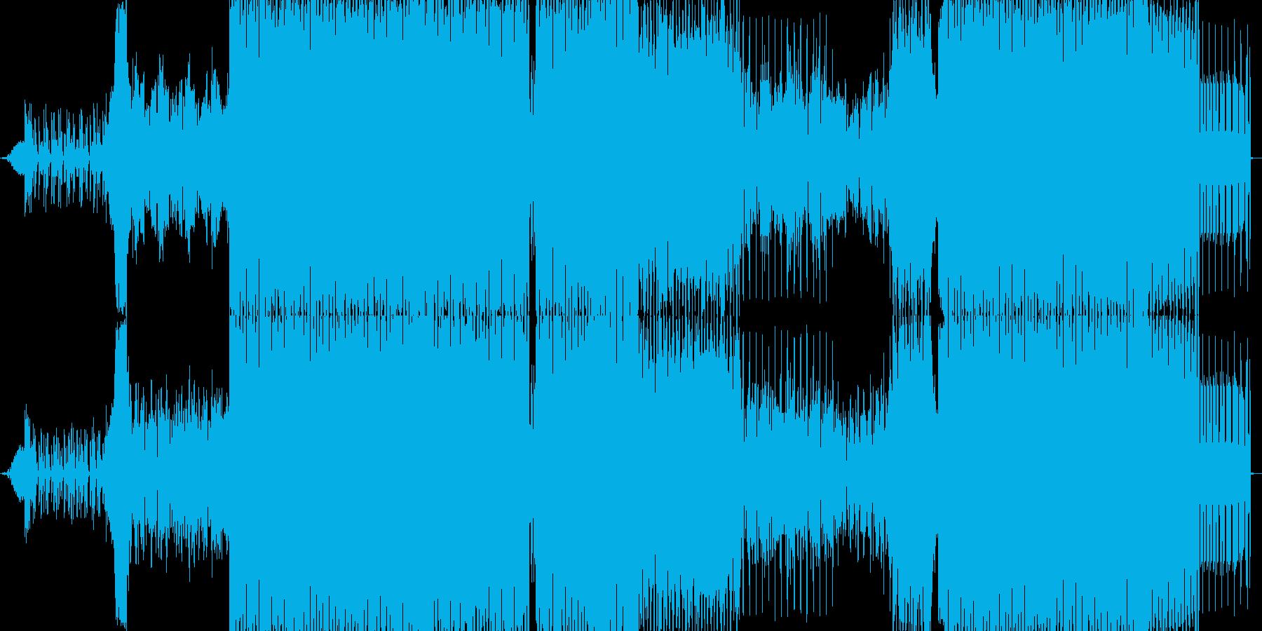 現代的な疾走感のあるEDMの再生済みの波形