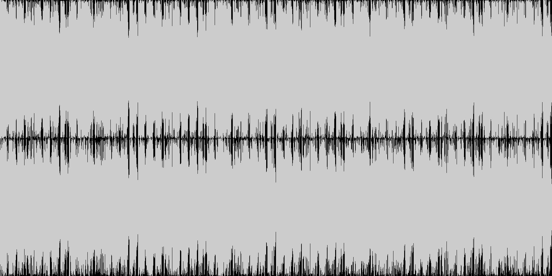 幻想的で重く激しいロック。生演奏・ループの未再生の波形