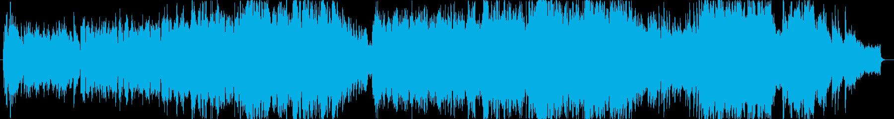 バイオリンによる感動的なバラードの再生済みの波形
