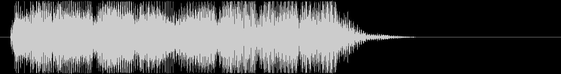 クールなレトロなゲームオーバーBGMの未再生の波形