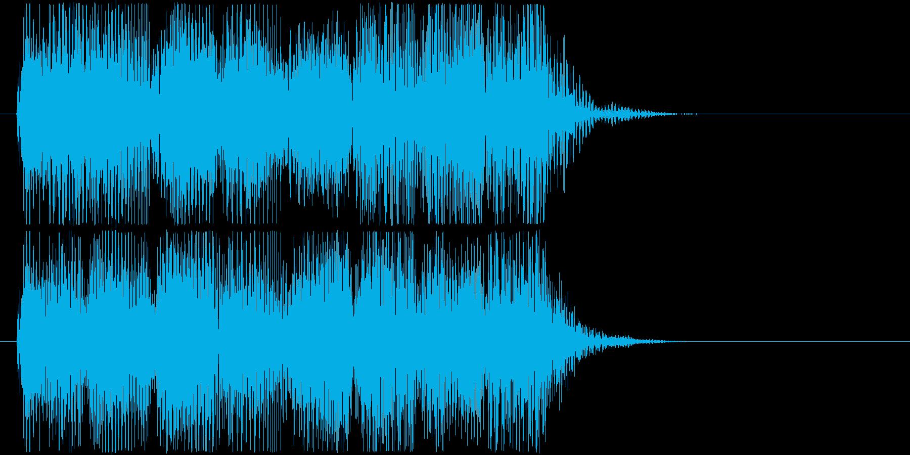 クールなレトロなゲームオーバーBGMの再生済みの波形