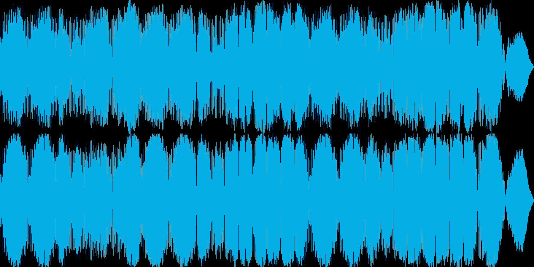癒されるAmbient Musicの再生済みの波形