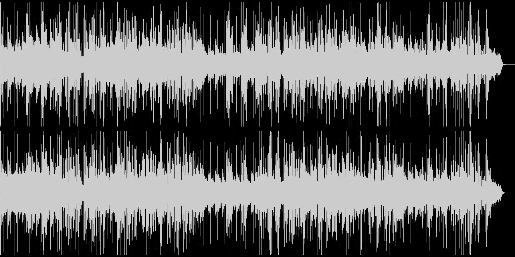 優しい感じのピアノメイン曲の未再生の波形