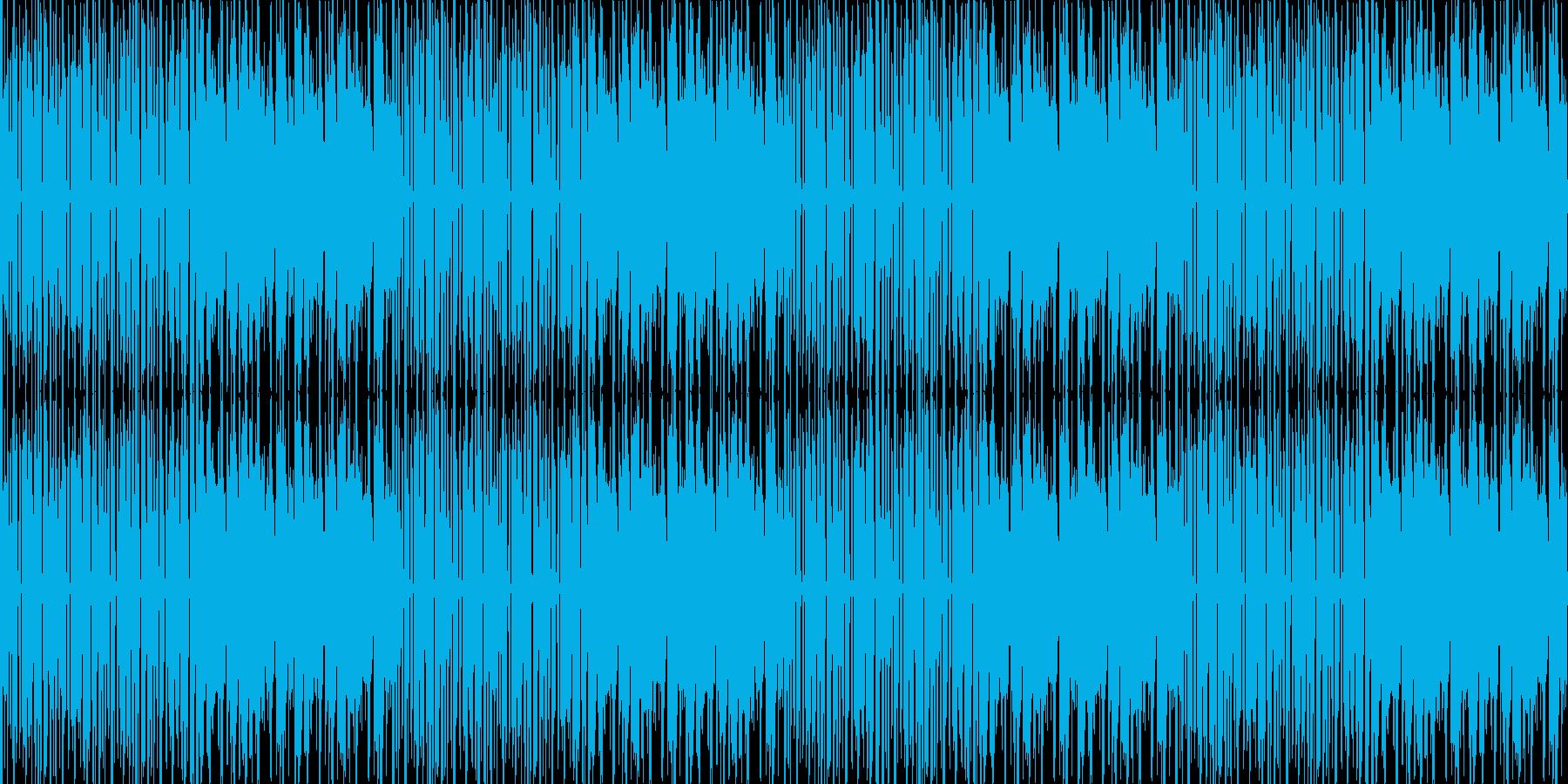 【近未来でサイバーな雰囲気のポップス】の再生済みの波形