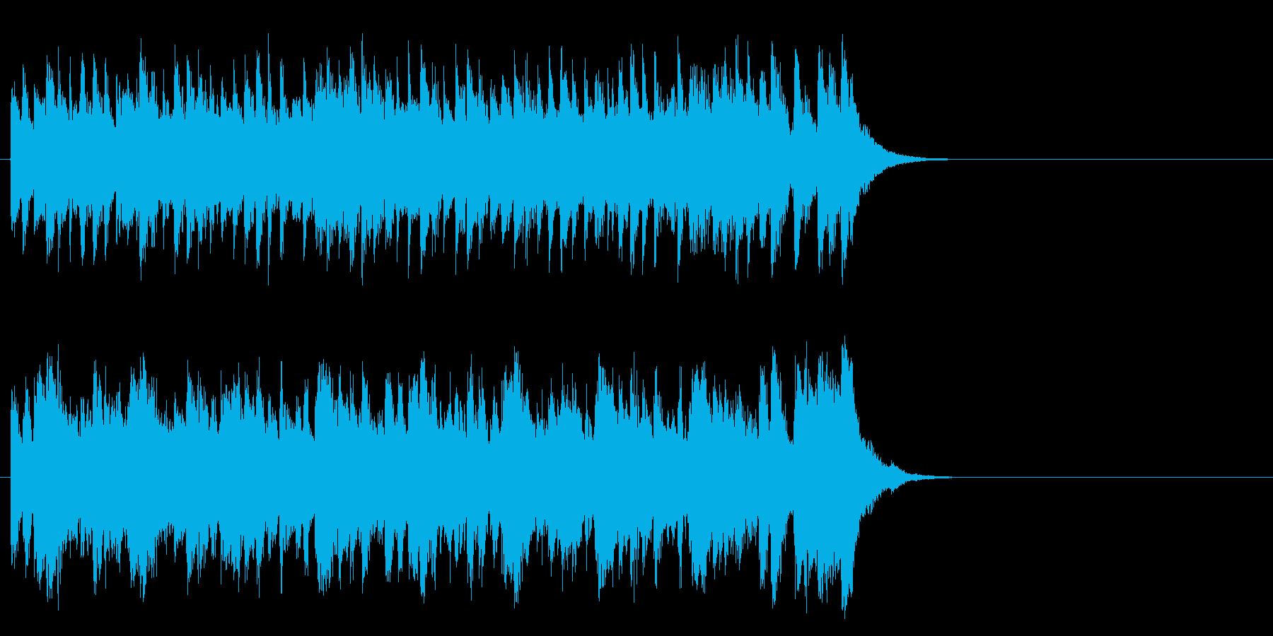 元気で軽快なポップス(イントロ)の再生済みの波形