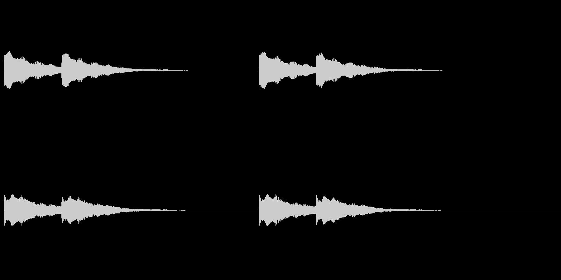 【ドアベル メロディー01-2】の未再生の波形