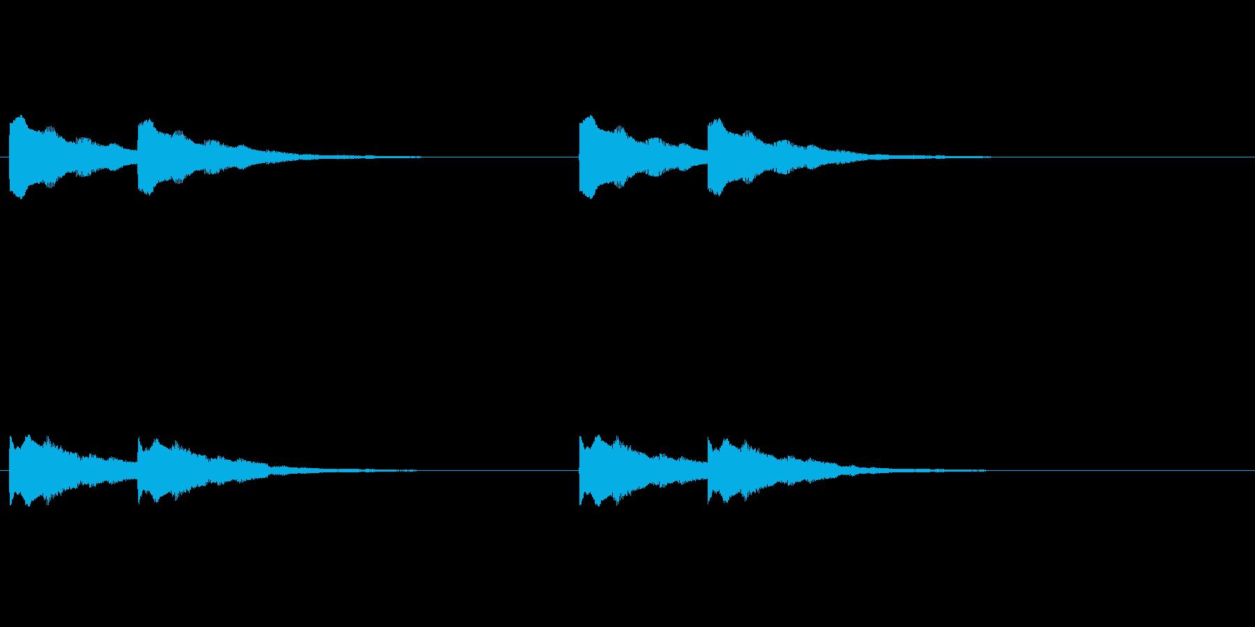 【ドアベル メロディー01-2】の再生済みの波形