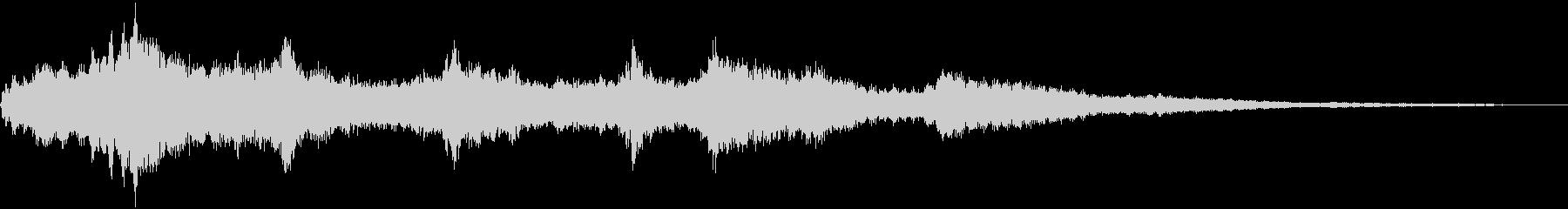 きらきらとしたウィンドチャイムの音の未再生の波形