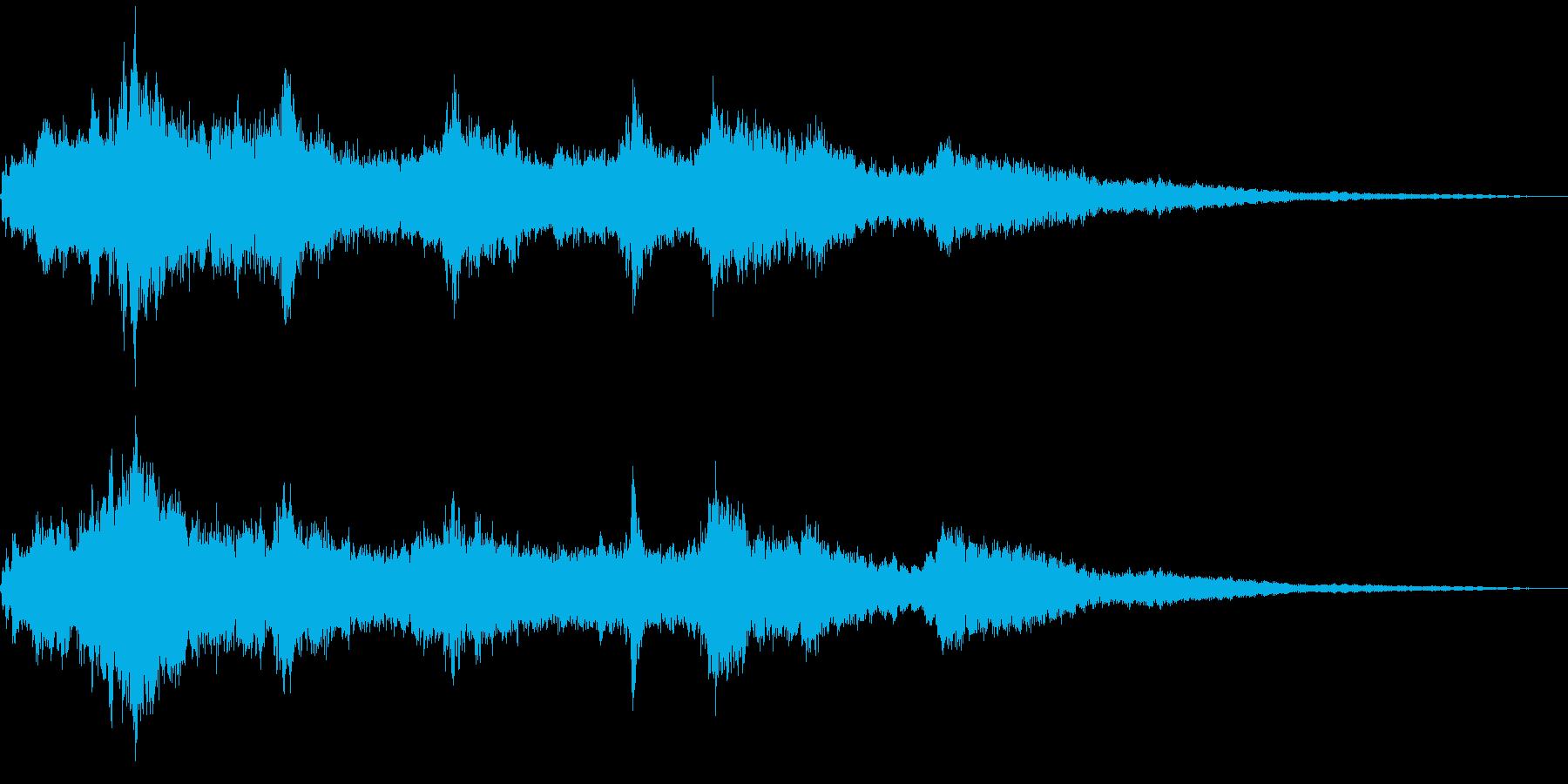 きらきらとしたウィンドチャイムの音の再生済みの波形