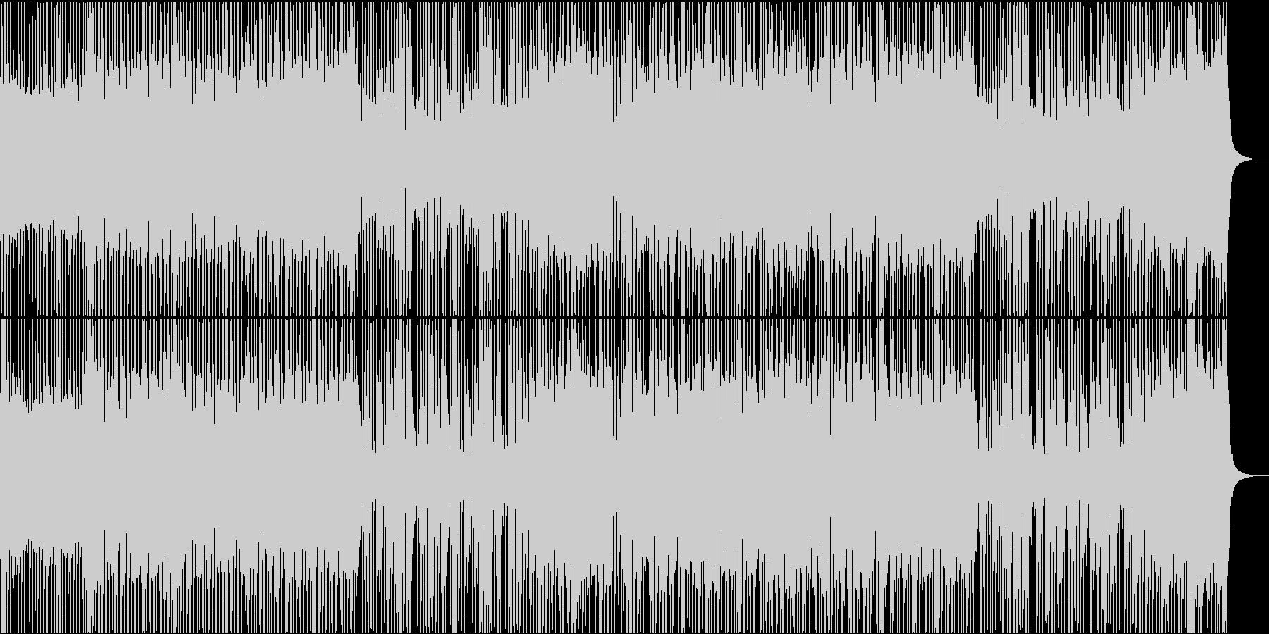 ロック/激しい/重い/バンド/シンセ抜きの未再生の波形
