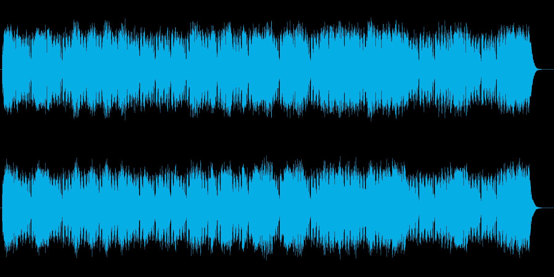 メロディアスで緩やかなシンセサウンドの再生済みの波形