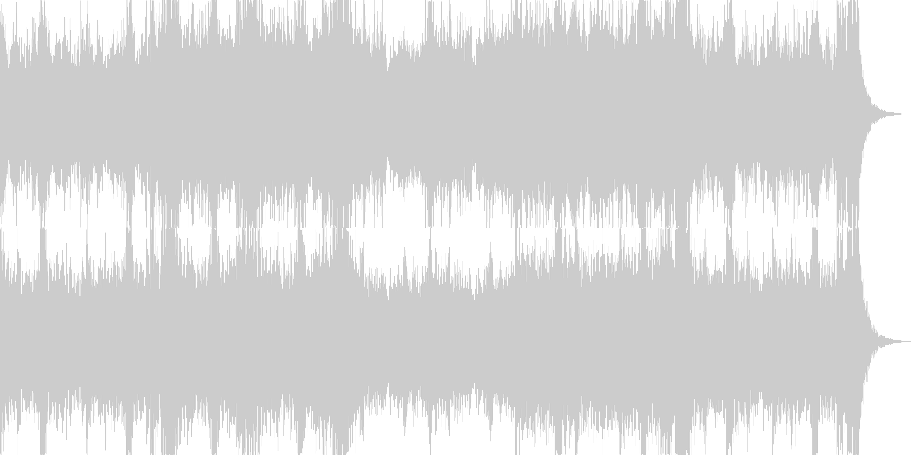 緊迫感があり暗くパワフルなオーケストラ曲の未再生の波形