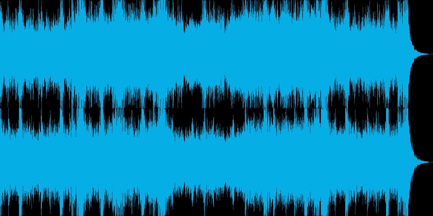 緊迫感があり暗くパワフルなオーケストラ曲の再生済みの波形