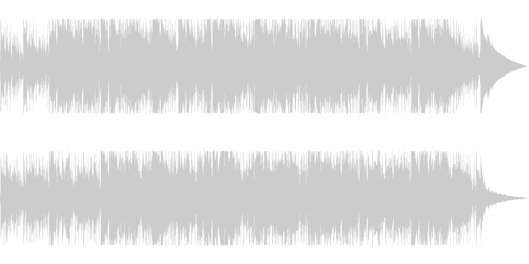 バイオリンのノスタルジックなバラードの未再生の波形