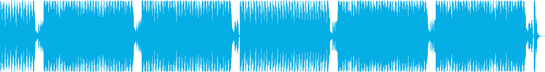 サンバ・デ・ジャネイロのようなBGMの再生済みの波形
