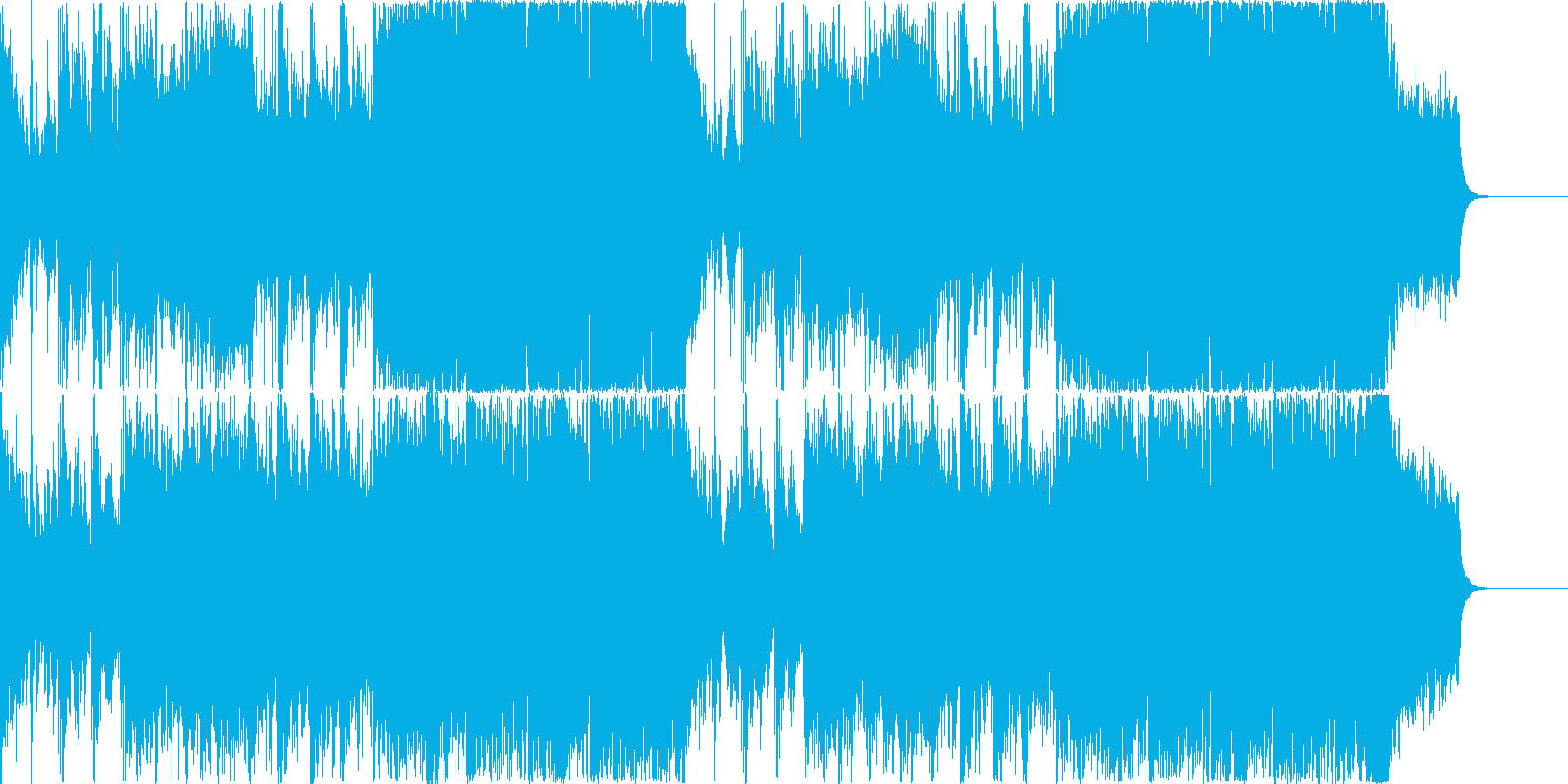 「荒々しいオーケストラ」の再生済みの波形