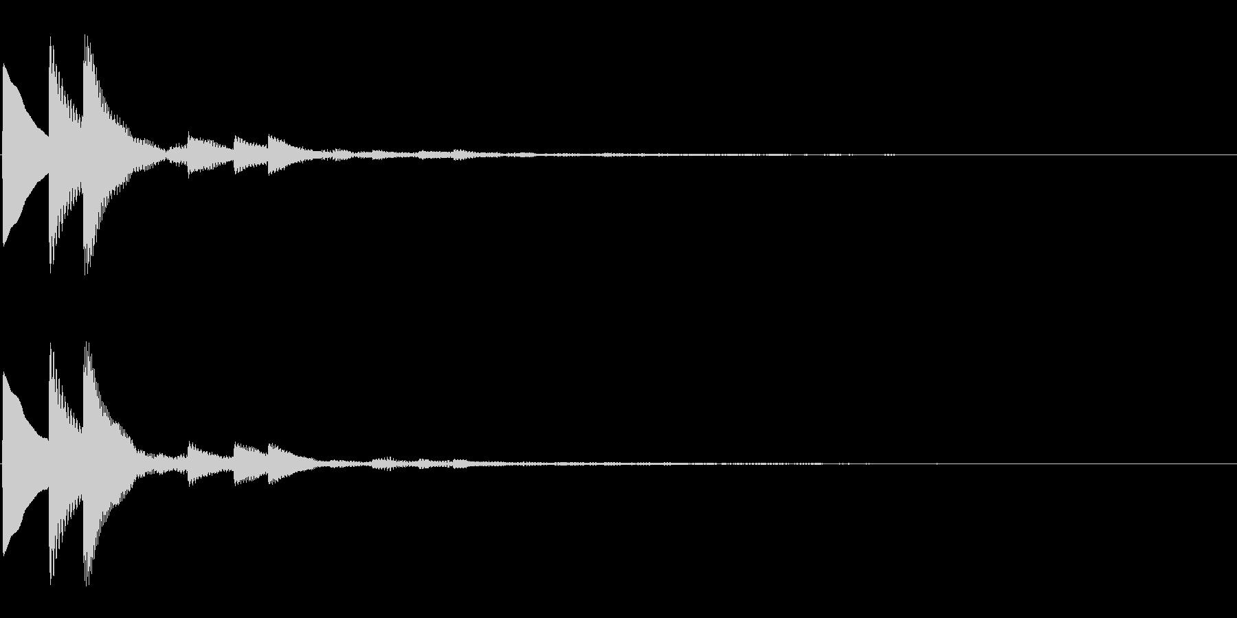キラキラとした上昇系決定音の未再生の波形