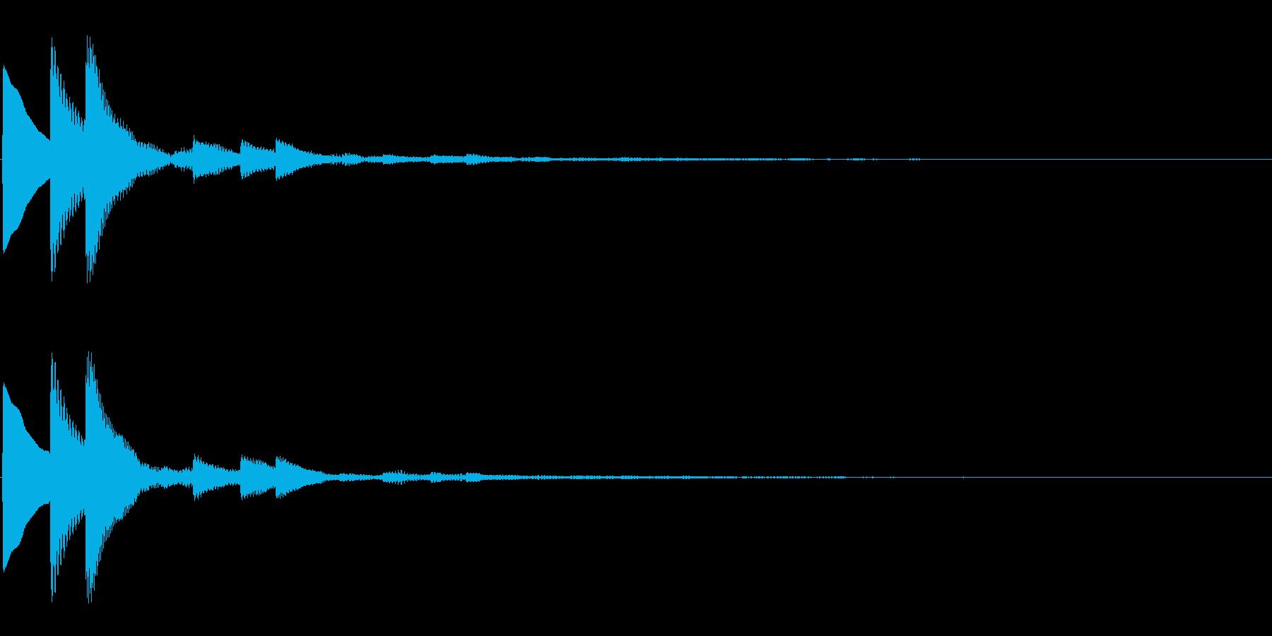 キラキラとした上昇系決定音の再生済みの波形