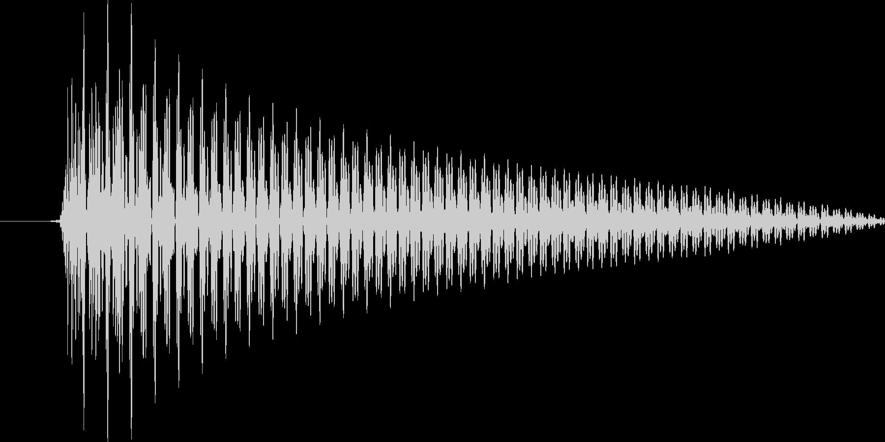 システム音(ワンコード)の未再生の波形