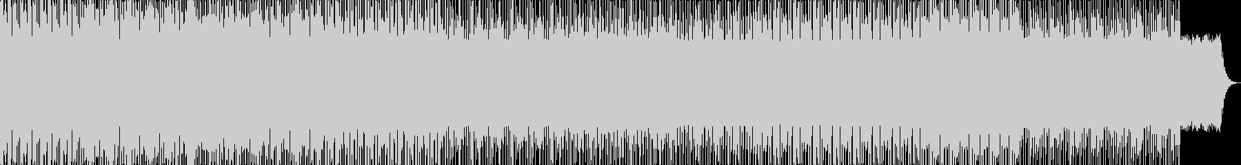 テクノとロックの融合の未再生の波形