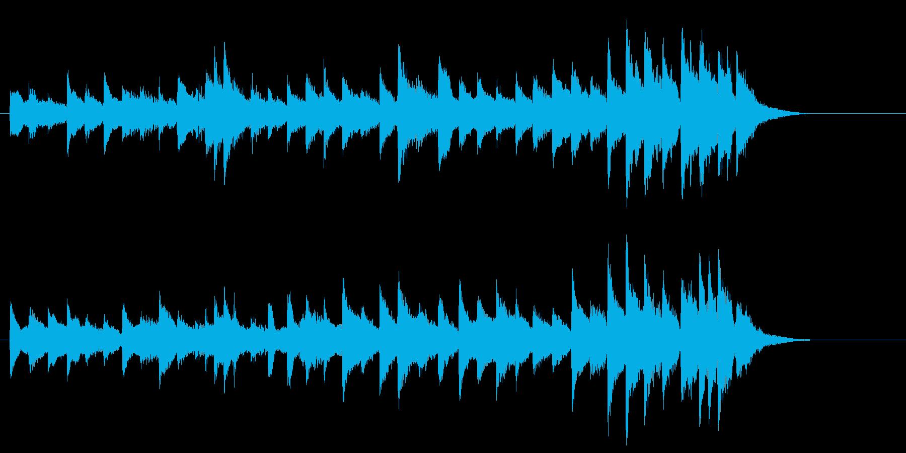 ピアノ曲。CM・映像・ゲーム等に。の再生済みの波形