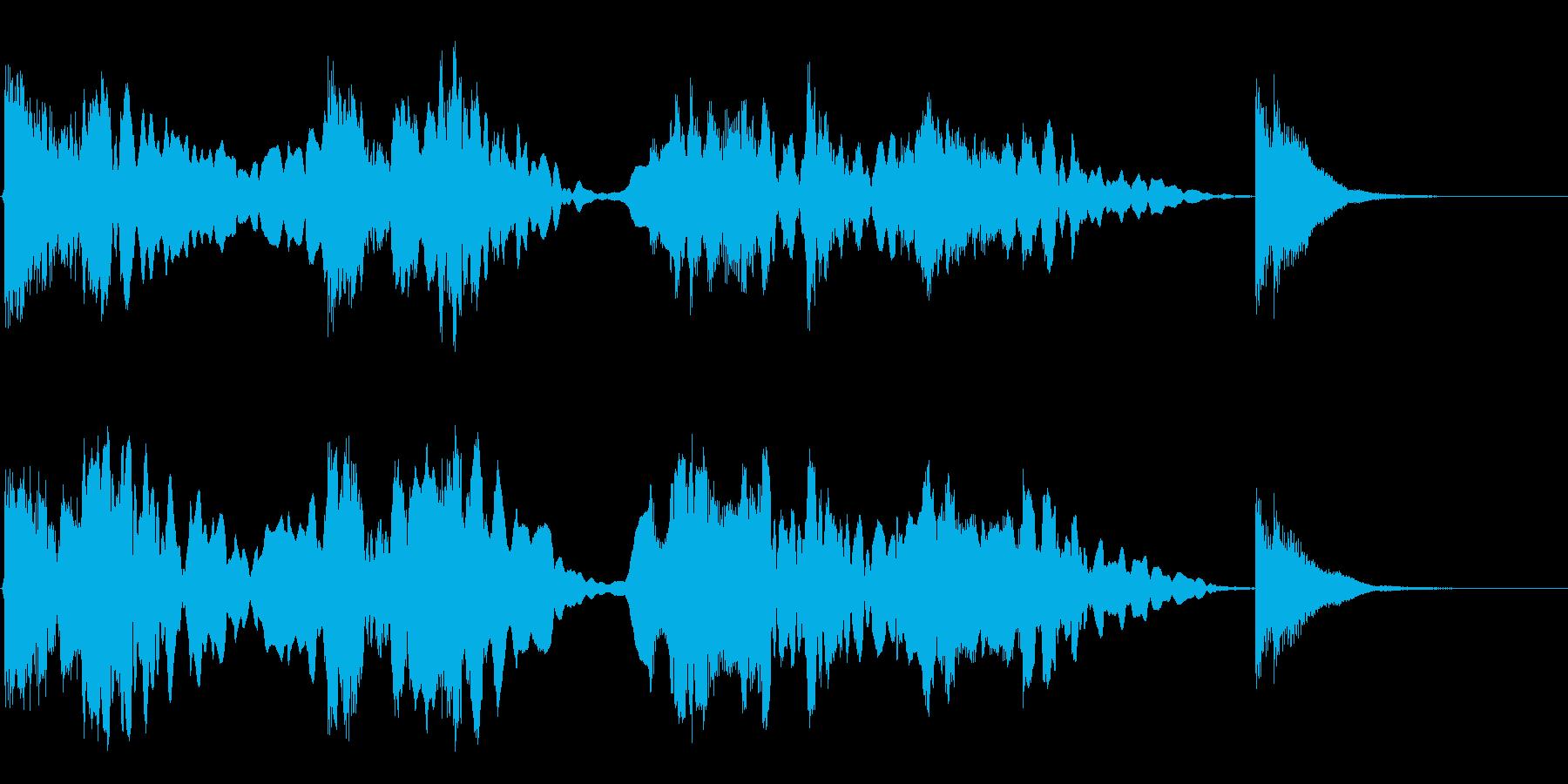 尺八と三味線のジングルの再生済みの波形