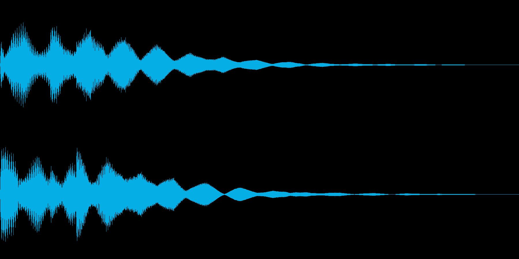 サスペンスっぽい怪しいエレピ音の再生済みの波形