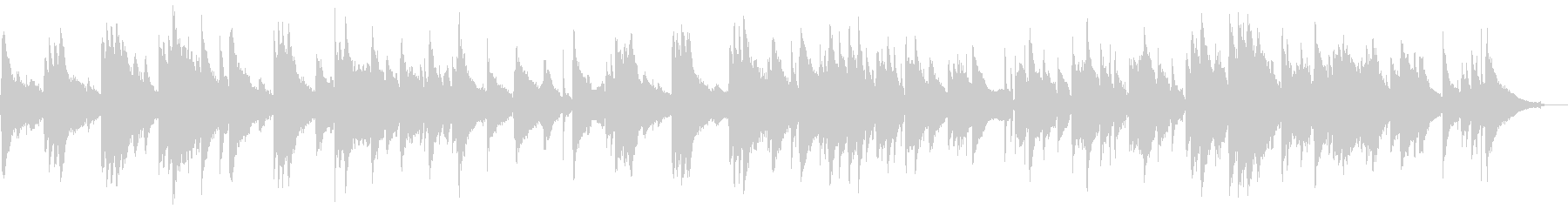 スローなジャズテイストのBGMの未再生の波形
