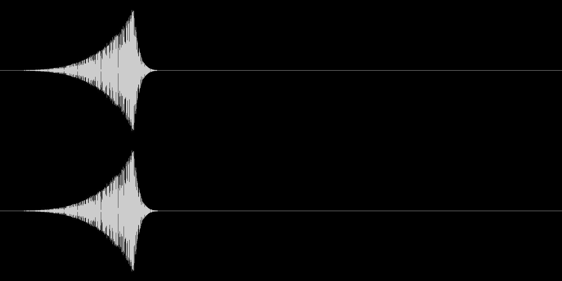 シュッ(スワイプ、フリック音などに)の未再生の波形