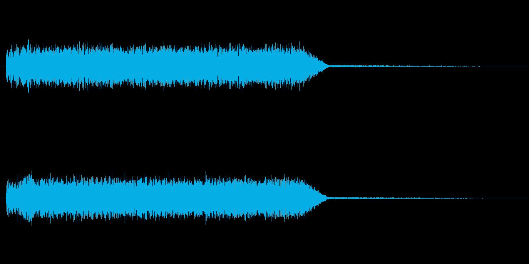 ウィーーン 光線 サイレン ロボの再生済みの波形