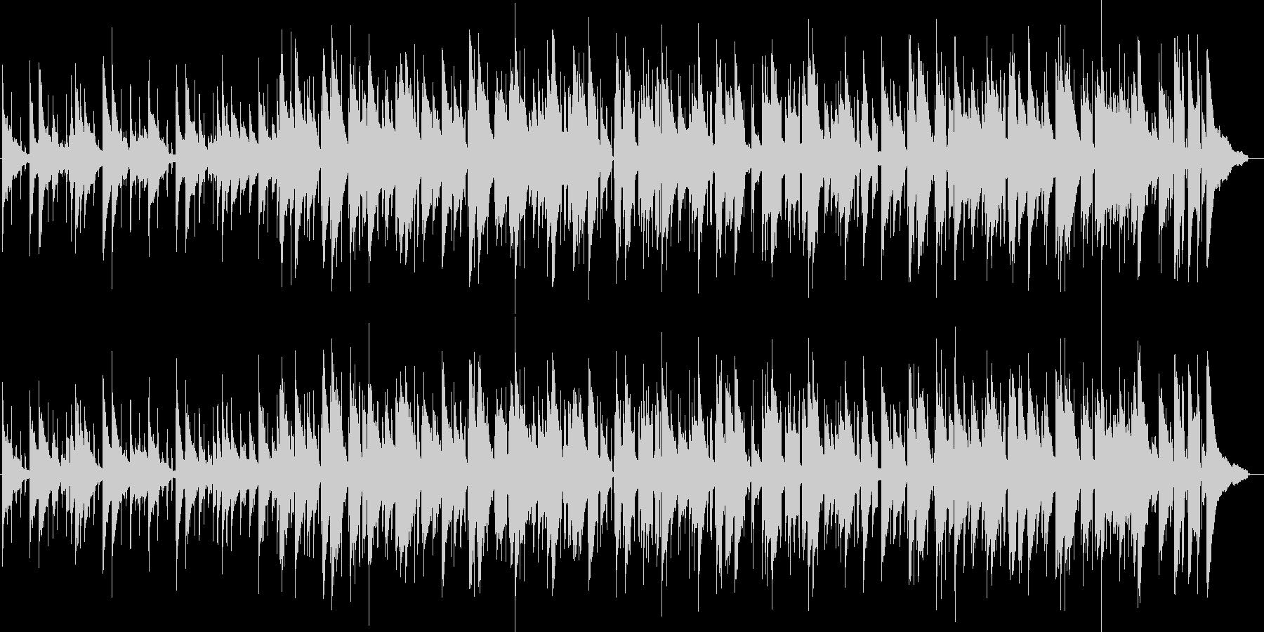 綺麗な音色のアコースティック風BGMの未再生の波形