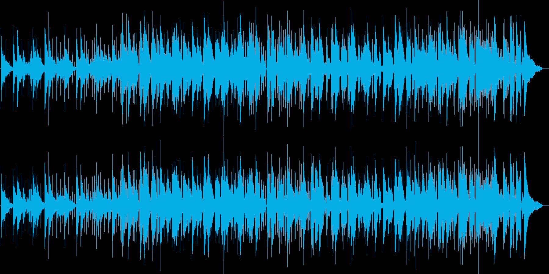 綺麗な音色のアコースティック風BGMの再生済みの波形