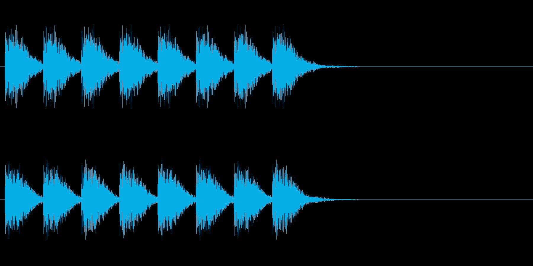 警告・警報・サイレン・ブザー#9(残響)の再生済みの波形