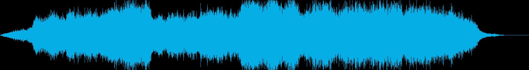 美しく魅惑的な重音の異次元/海底BGMの再生済みの波形