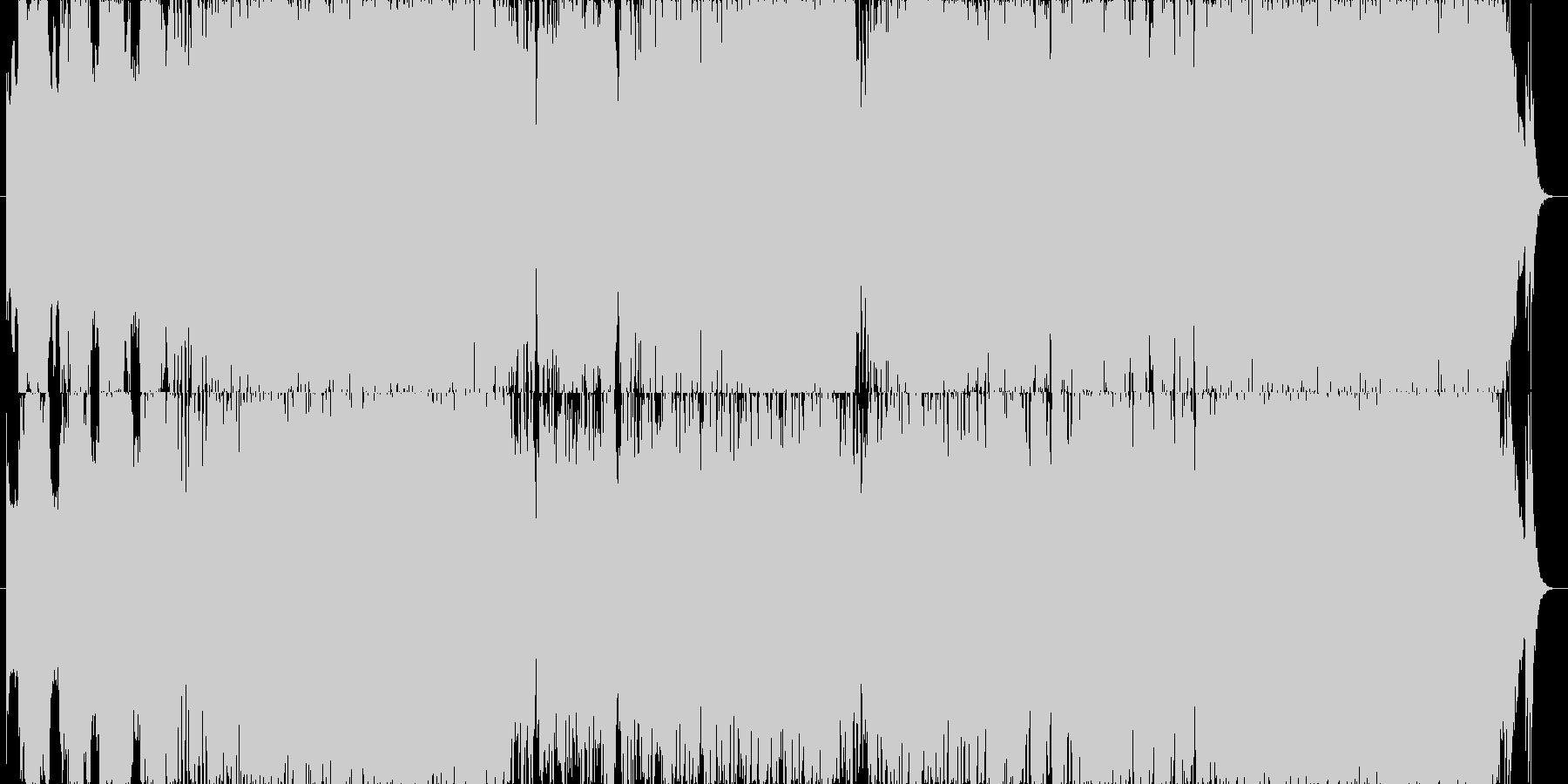 ゲーム用勇壮でパワフルなオーケストラ曲の未再生の波形