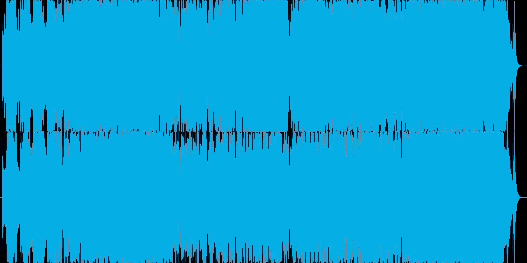 ゲーム用勇壮でパワフルなオーケストラ曲の再生済みの波形