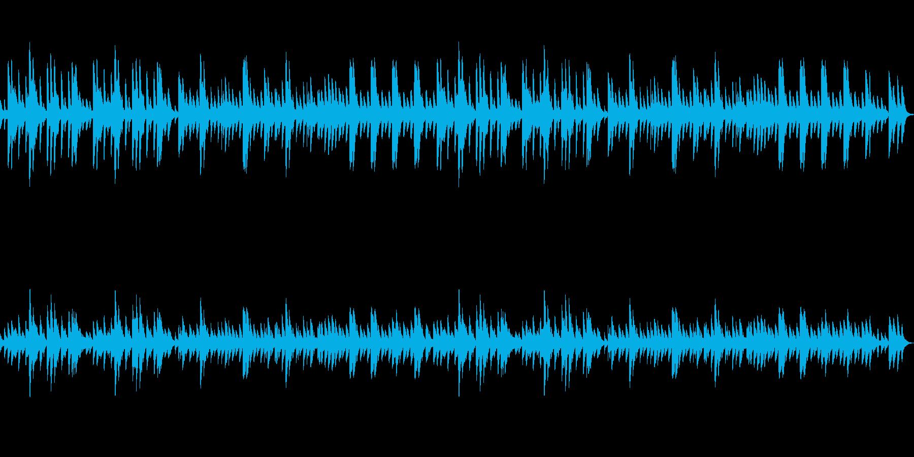 回想・追憶・思い出のようなオルゴール曲の再生済みの波形