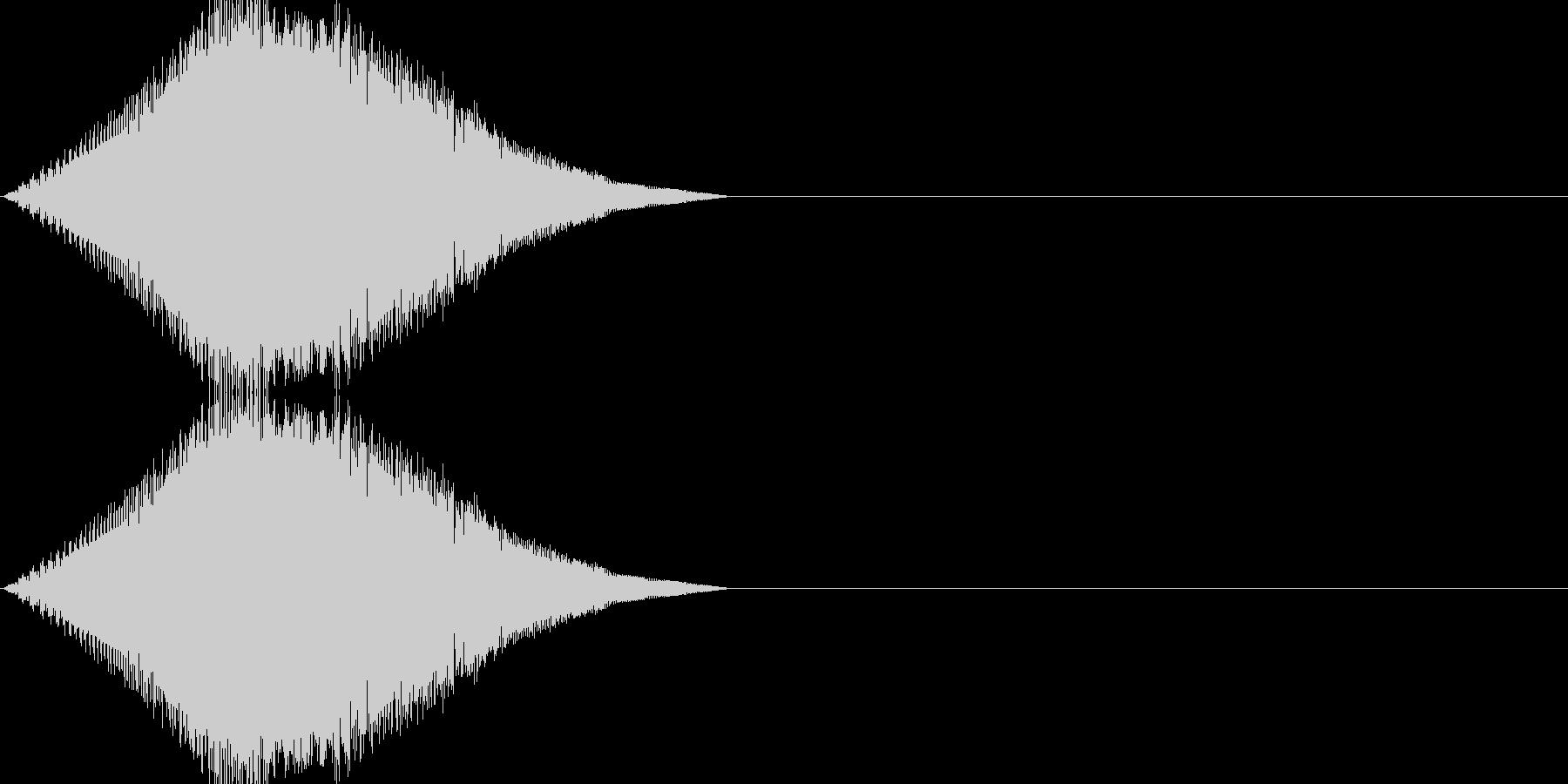 レトロゲーム風・スタート#4の未再生の波形