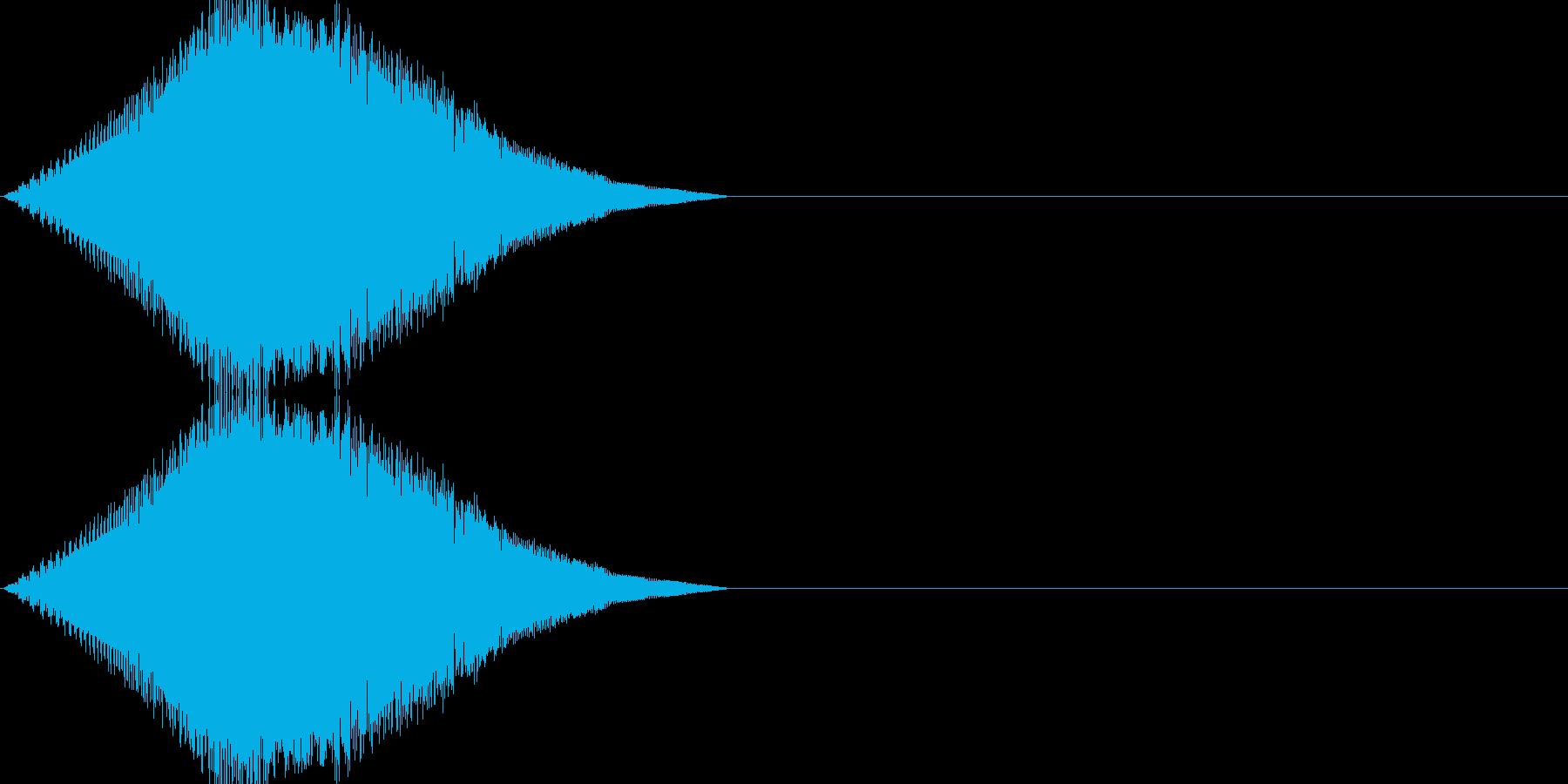 レトロゲーム風・スタート#4の再生済みの波形